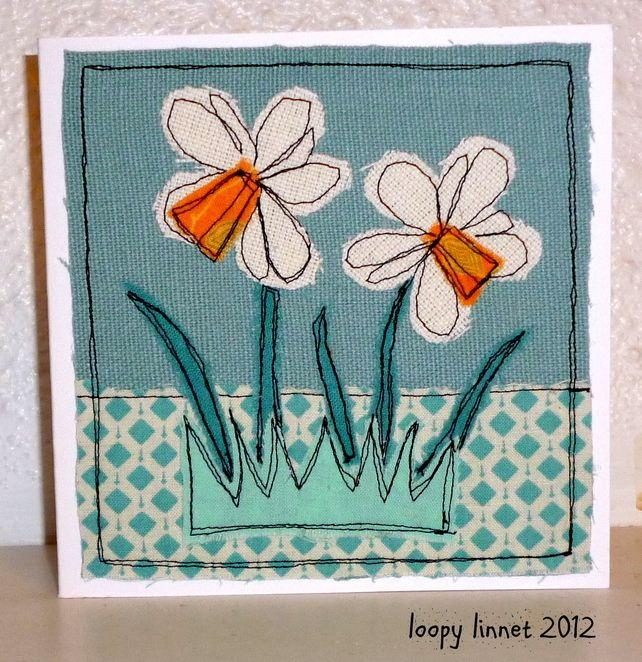 Daffodil Textile Art Card £4.00