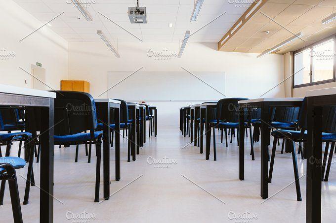 Empty classroom  by OSORIOartist on @creativemarket