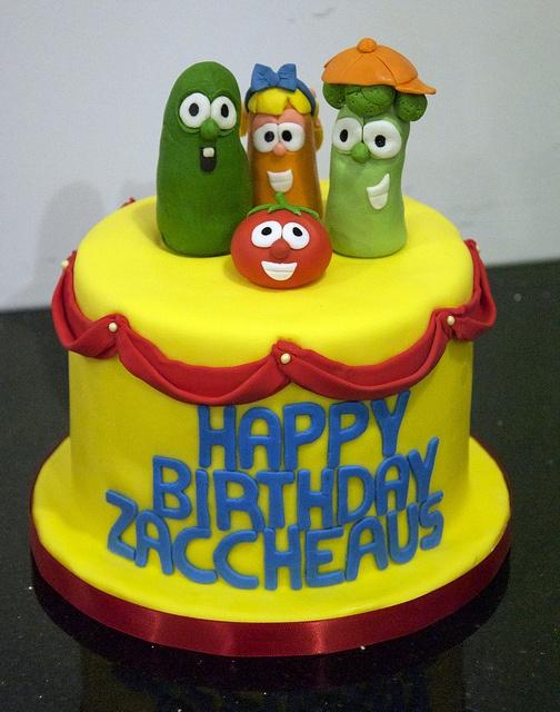 BC4076 - veggietales birthday cake by www.fortheloveofcake.ca, via Flickr