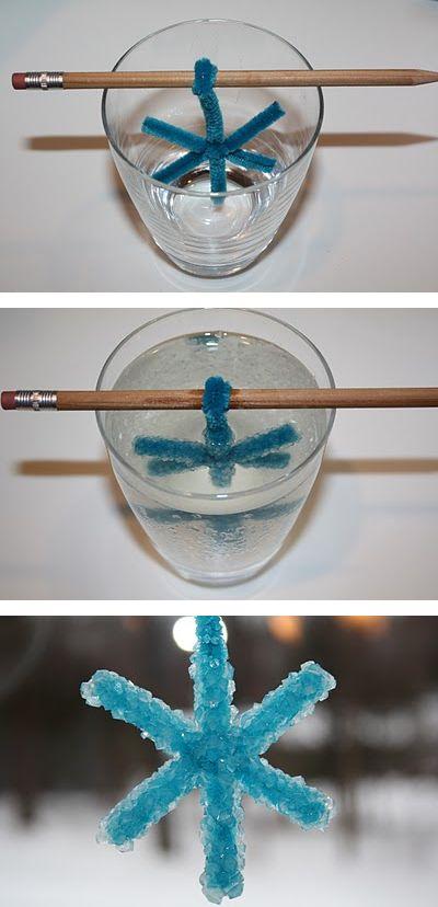 DIY crystal snowflake