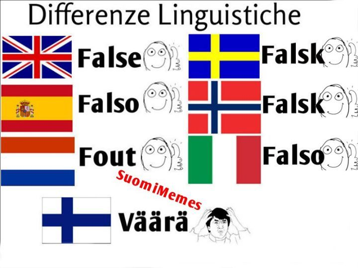 Finnish language differences compared to other languages 4