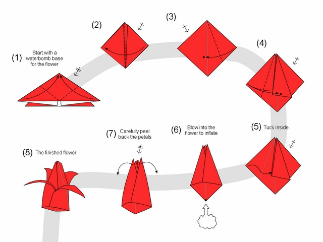 tulip - tulipano origami