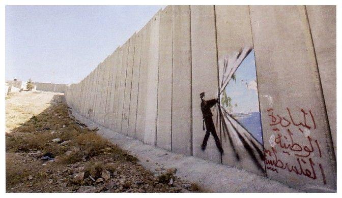 banksy: Wall Art, Urban Art, Palestine, Banksy Graffiti, Street Art, Wall Street, Graffiti Artists, Middle East, Streetart