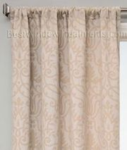 """Azure Royal Curtain Panel available in 6 color choices: 108"""" inch curtains   linen style window treatments"""
