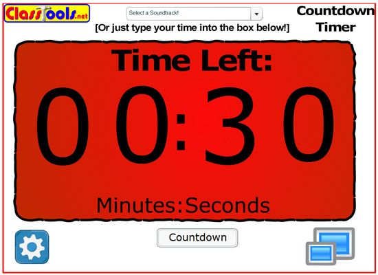 Classroom Timers for your Interactive Whiteboard