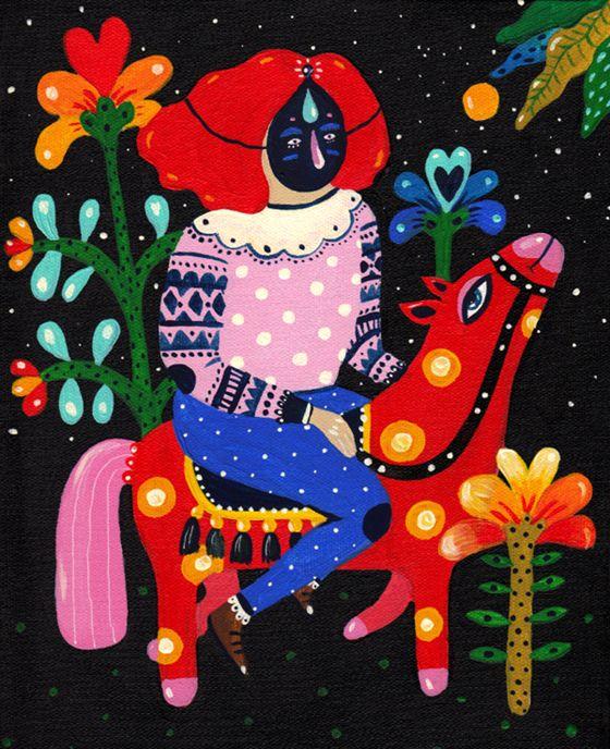 Aitch (Heliana) Romanian artist drawing inspiration from Romanian folk art.