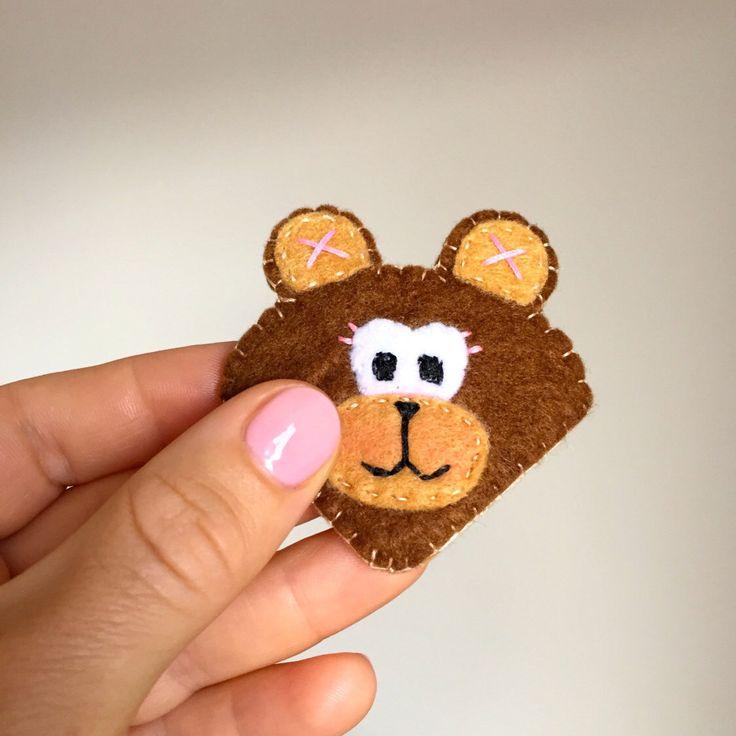 Un preferito personale dal mio negozio Etsy https://www.etsy.com/it/listing/248869538/segnalibro-orso-in-feltro-marrone