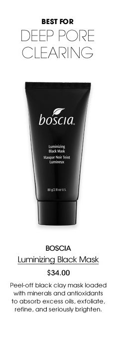Sephora It Lists: Best for Deep Pore Clearing: Boscia Luminizing Black Mask