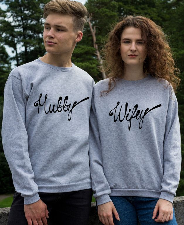 Jumpers & Sweatshirts – Wifey and Hubby matching couple sweatshirt – a unique product by Spaudashirts on DaWanda