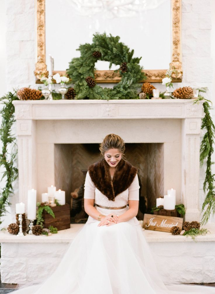 Elegant   Rustic Winter Wedding Inspiration | photography by http://jacquelynnphoto.com/ (via @Elizabeth Anne Designs)