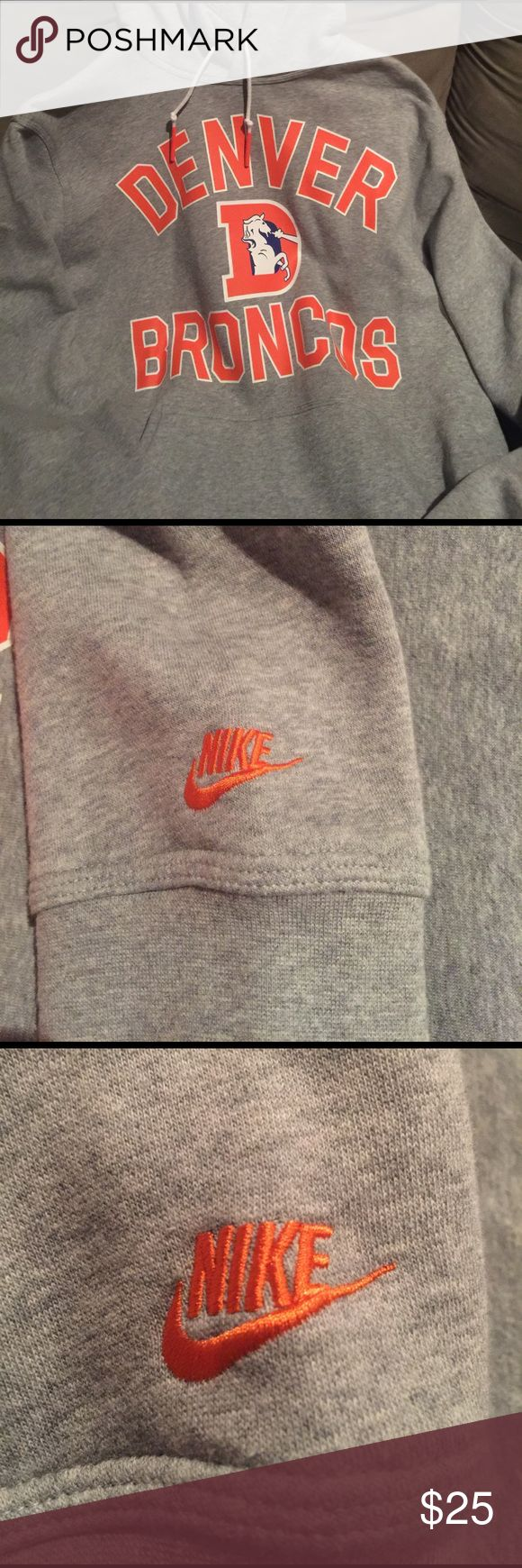 Nike Denver Broncos Hoodie I've only wore this two times! It was purchased in Denver at the Mile High Stadium! Nike Shirts Sweatshirts & Hoodies