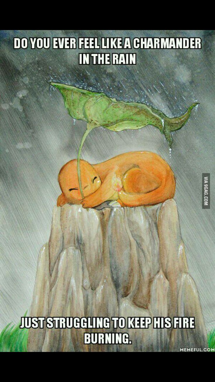 For ppl who don't know about pokemon and have found this picture. When charmander's flame on it's tail goes out it dies. It's sad but true :(.