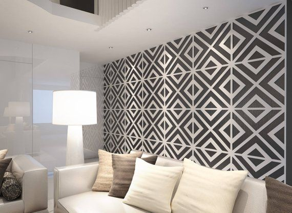 Mid Century Wall Art Geometric Wall Art Mid Century Modern Etsy Accent Walls In Living Room Decorative Wall Panels Accent Wall Designs