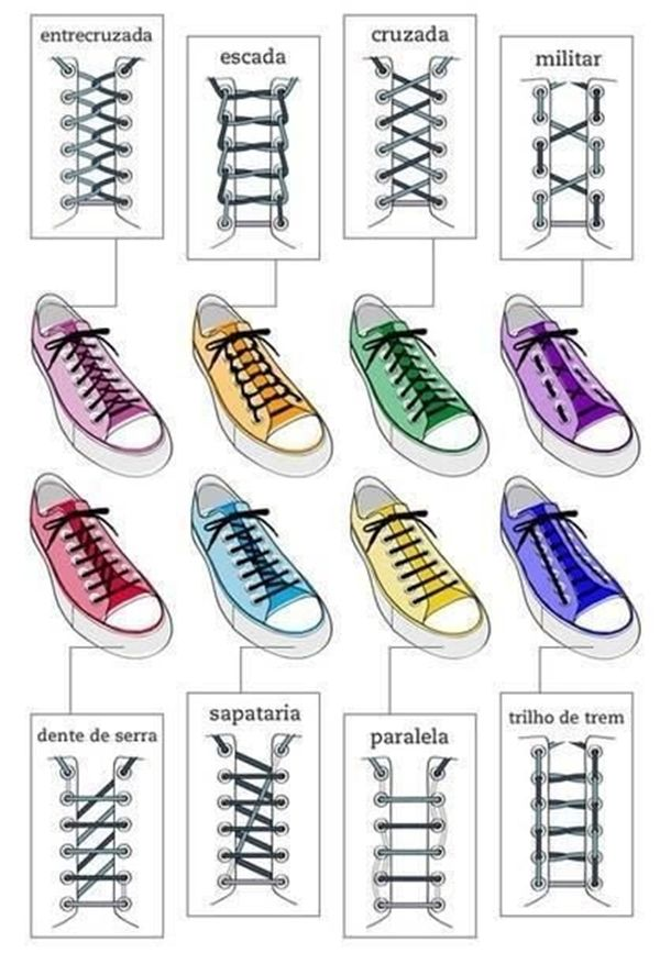 7c4ad61429f 30 Different Shoelace Knot Style Tutorials | laced up | Ways to lace ...