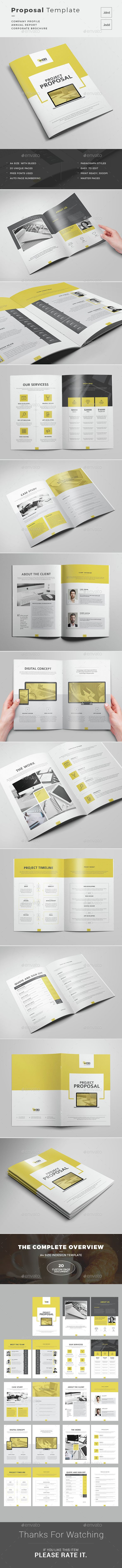 Proposal Word Indesign Brochure TemplatesBusiness 23