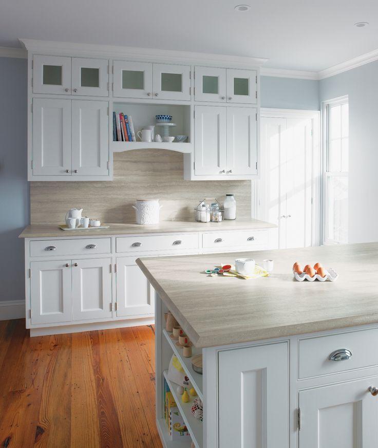 IdealEdge™: 3458 - Travertine Silver #Ogee #Kitchen #Countertop #InteriorDesign: Formica Countertops, Colors Schemes, Countertops Design, Kitchens Countertops, Travertine Silver, White Cabinets, Kitchens Cabinets, Laminate Countertops, White Kitchens