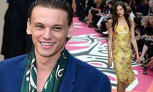 Jamie Campbell-Bower gushes about girlfriend Matilda Lowther at LFW #DailyMail