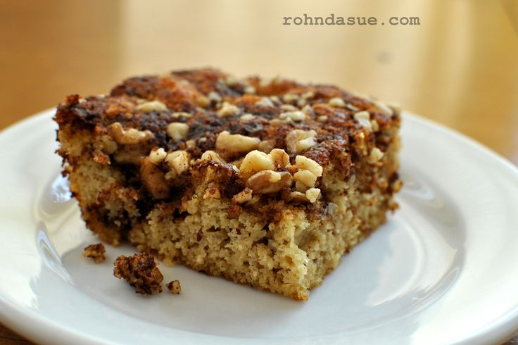 Grain Free, Low Carb Coffee Cake