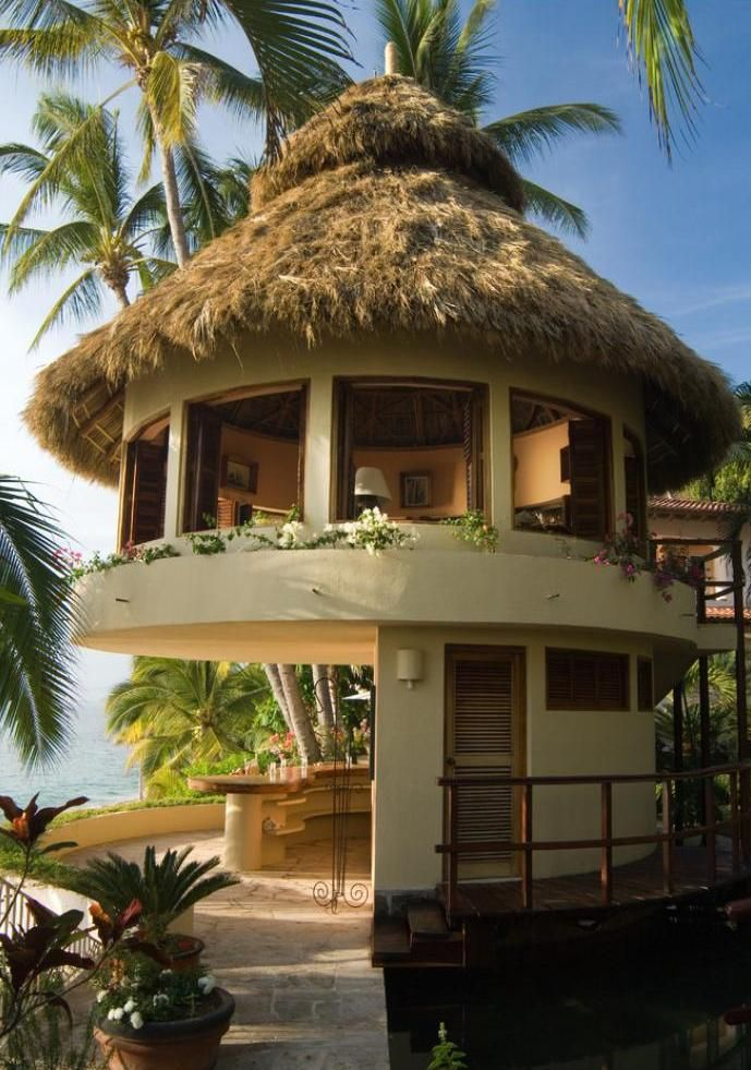 A tropical beach house