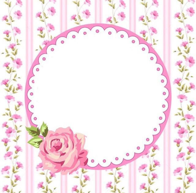 ✿ ❀ ❁✿ pink floral gift tag or label ❁ ✿ ❀ ❁