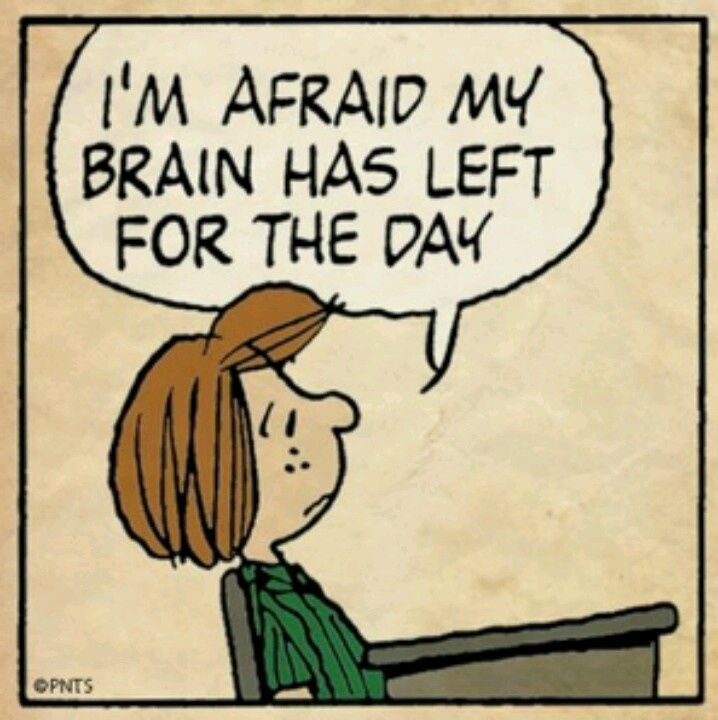 I'm afraid my brain had left for the day.