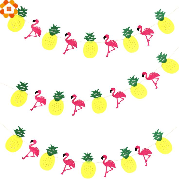 Flamingo&Pineapple Hanging Flags Non-wove Garland Flag Banners Birthday/Wedding Party Decoration Bachelorette Hen Party Decor #Affiliate