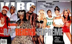 Method Man, LL Cool J, Busta Rhymes, Master P, Lil Kim, Missy Elliot, Foxy Brown and Lauryn Hill (February 1998) | 20 Vibe Magazine Covers That Perfectly Define The '90s