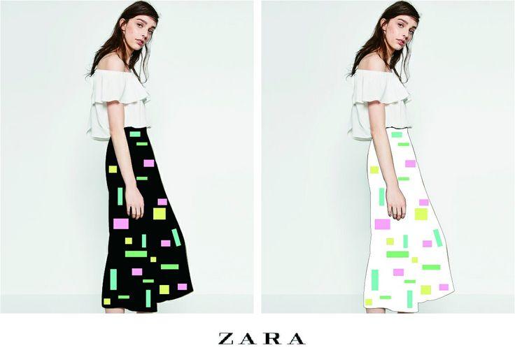 ZARA_square printed pants