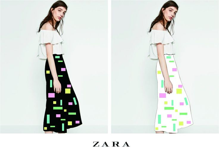 ZARA_square printed pants