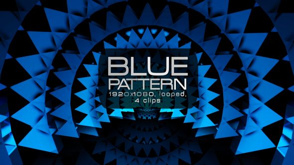 Blue Pattern Video Animation | 4 clips | Full HD 1920×1080 | Looped | H.264 | Can use for VJ, club, music perfomance, party, concert, presentation |#awards #blue #cinematic #concert #edm #fashion #frame #glamour #glow #loops #luxurious #music #pattern #slow #vj