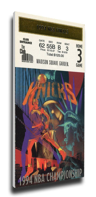 1994 NBA Finals Canvas Mega Ticket, Game 5 - New York Knicks