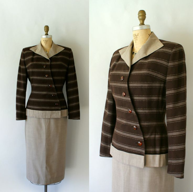 Vintage 1940s Lilli Ann Wool Skirt Suit from sweetbeefinds
