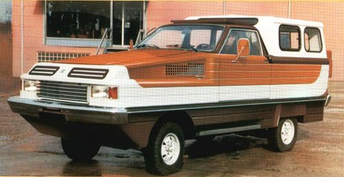 All purpose camping vehicle. Looks like it can drive through water too.