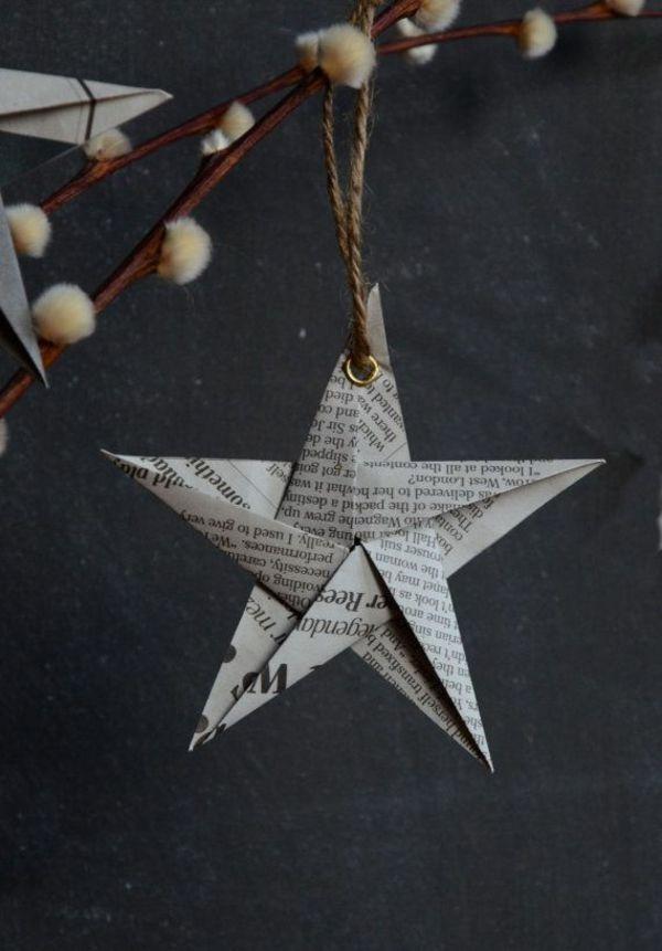 weihnachtsdeko basteln papier falten