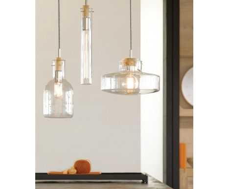 Lab 1Lt Pendant with 170mm Flat Beaker Shaped Glass Shade from Beacon Lighting $89.96 on Sale