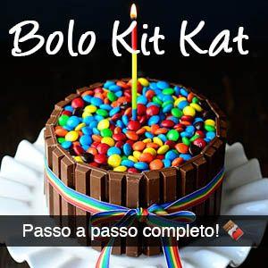 Receita e passo a passo do belo, fofo e criativo bolo Kit Kat com confete (fica parecendo uma cerquinha)!