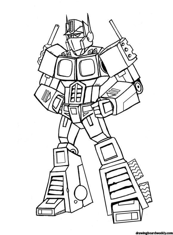 Optimus Prime Coloring Page Transformers Coloring Pages Optimus Prime Printable Bee Coloring Pages