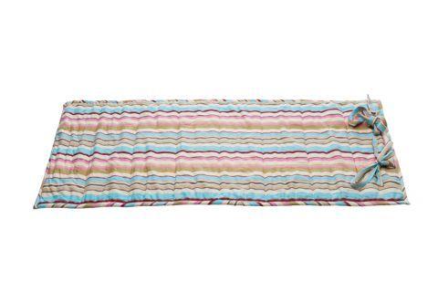 Pilates Mat, pink/beige stripe