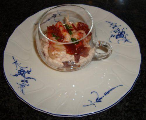 Mousse van rivierkreeftstaartjes • Origineel recept voor visgerechten • Gette