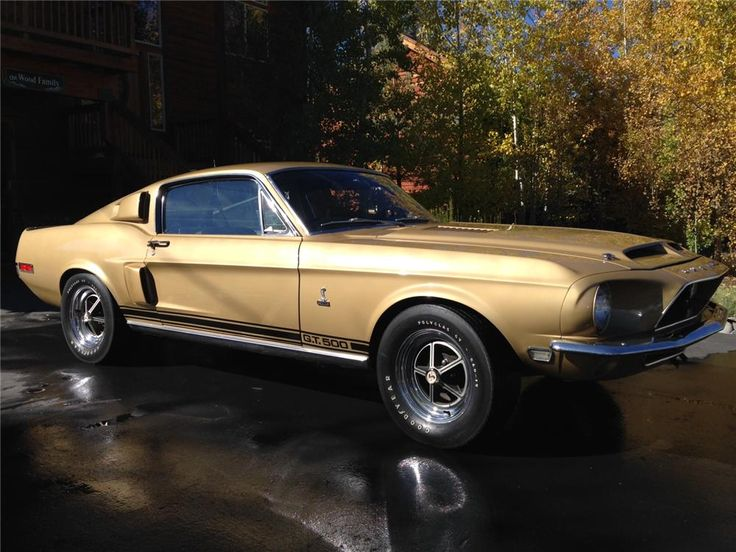 1968 SHELBY GT500 FASTBACK ~ 8 cylinder $165,000.00 ~ Barrett-Jackson Auction Company, Las Vegas, Nevada.
