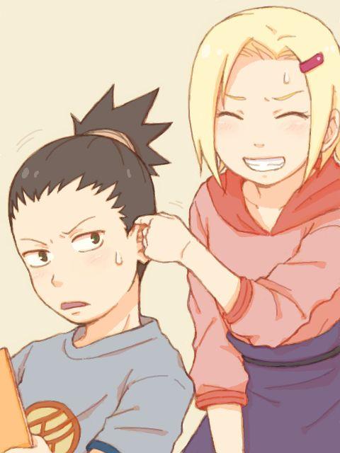 Young Shikamaru and Ino. | Naruto ! | Pinterest
