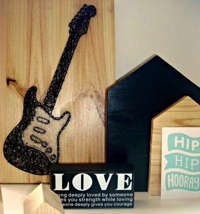 La Buhardilla - Decoración, Diseño y Muebles: D.I.Y. Una estupenda guitarra hecha con hilo