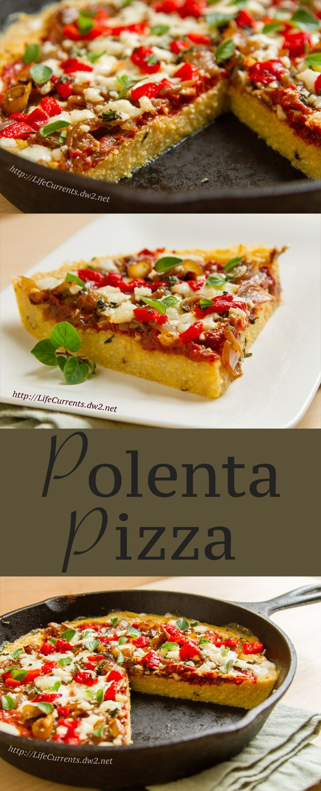 Polenta Pizza by Life Currents, a fun new twist on deep dish pizza for Brown Bag Lunch Month!