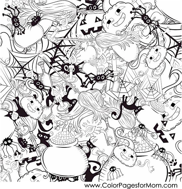 22 best X Halloween Coloring Page Printables Even Adults Will Love