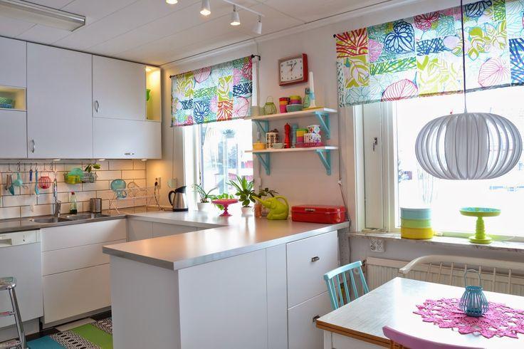 bright colorful kitchen modern retro