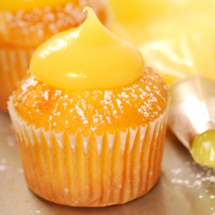 This lemon cupcake recipe makes a citrus flavored cupcake with a creamy homemade lemon curd.  Lemon lovers will love.. Lemon Cupcake Recipe from Grandmothers Kitchen.