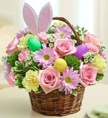 This bright and beautiful basket arrangement is a great centerpiece! $39.99