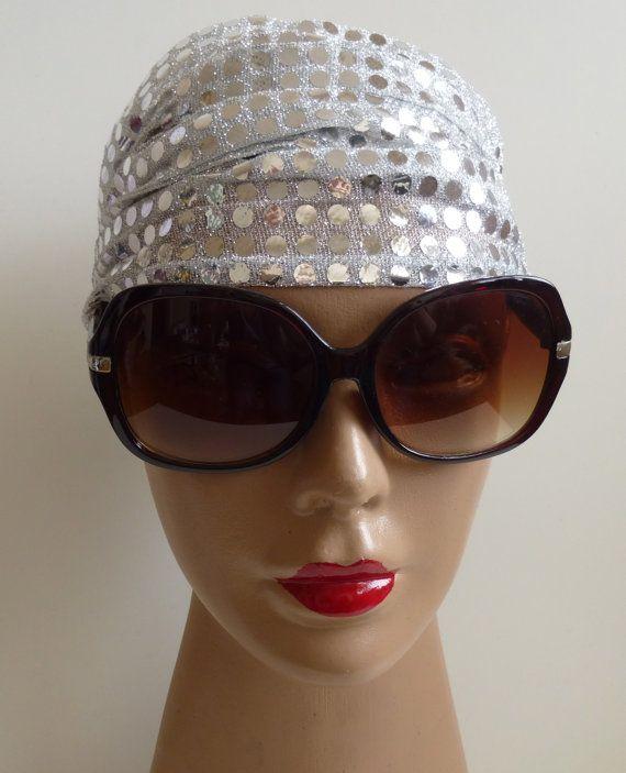 Bandana with silver glitter Beautiful hair by ShawlsandtheCity, $12.00