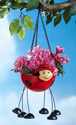 Ladybug Hanging Garden Planter