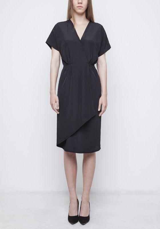 Image of Black Wrap Dress